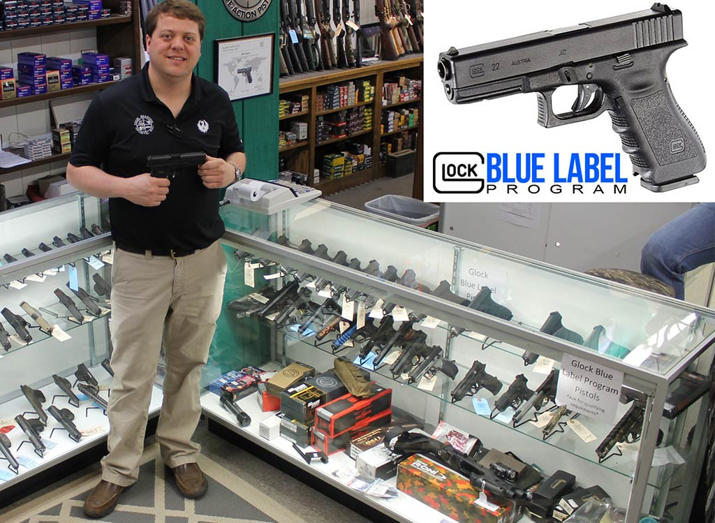Joe Sauls standing next to the Glock Blue Label Program Pistol Case