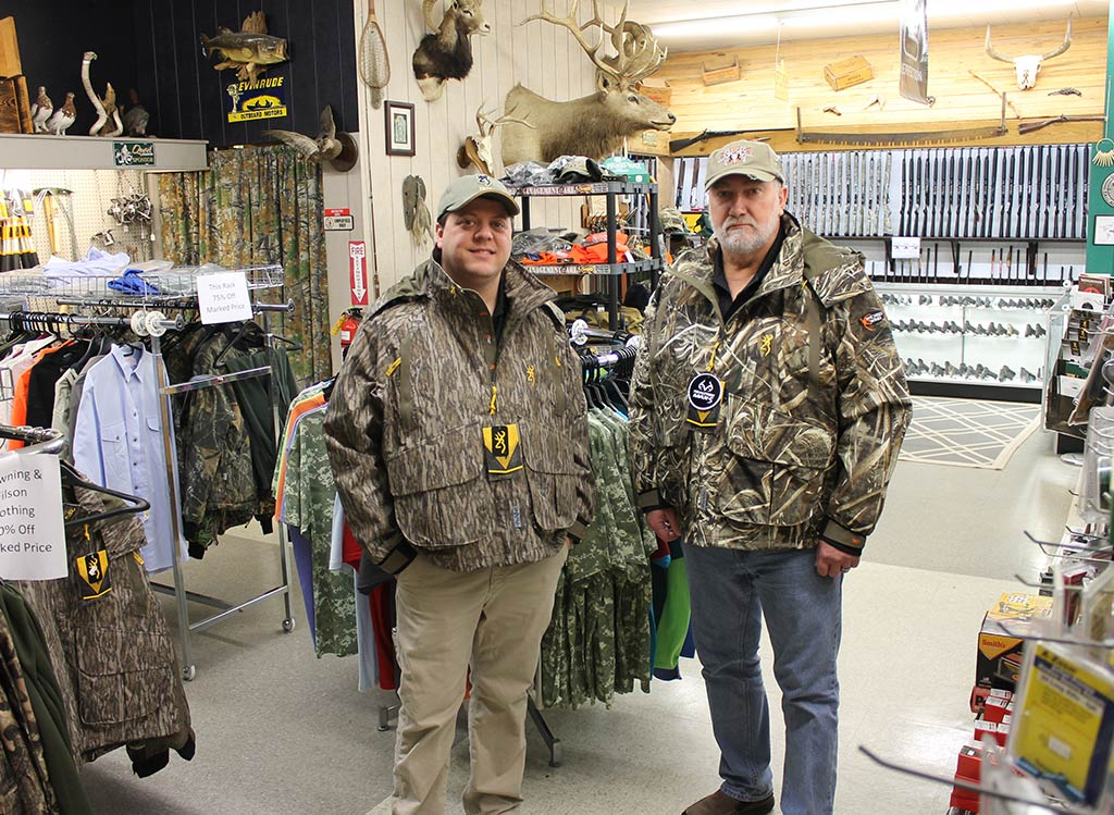 Joe and Mike wearing Browning Hunting Jackets