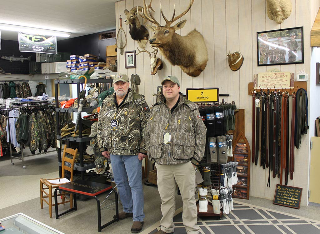 Mike and Joe sporting Browning Hunting Coats and hunting apparel