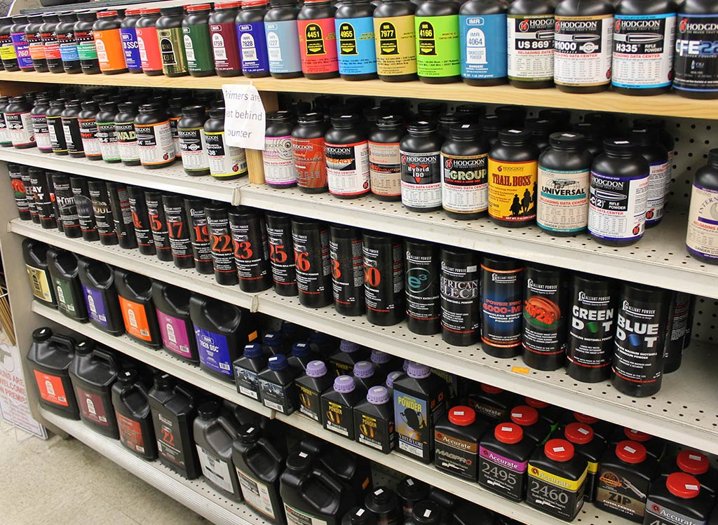 Huge variety of powders for reloading