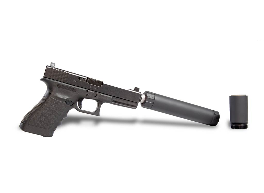 Modular Pistol Silencer by AAC for shooting